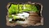 3D Wandillusion mit Naturmotiv