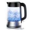 Arendo - Edelstahl-Glas-Wasserkocher mit LED Knopf