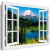 BOIKAL Optische Täuschung Fensterblick mit Holzrahmen