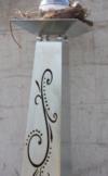 Blumensäule Flori in silber mit Schale