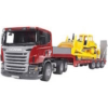 Bruder Scania R-Serie LKW inkl. Tieflader + Cat Bulldozer