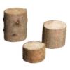 dreiteiliges Set Holzstämme aus Holzimitat