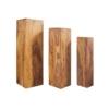 MAKASSAR 3er Set Dekosäulen aus Holz