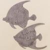 Wanddeko Fischschwarm 2er-Set