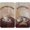 WENKO 2521280100 Herdabdeckplatte Universal mit Kaffee Motiv als 2er Set