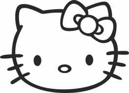 Hello Kitty Autofenster Sticker in Schwarz