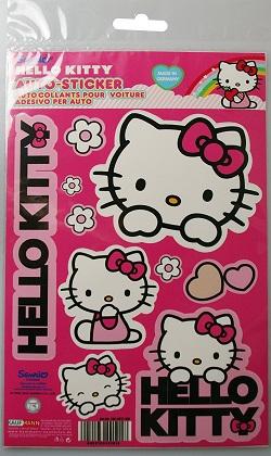 Hello Kitty Aufkleber mit verschiedenen Motiven