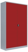 Stahlblech Lagerschrank in rot