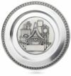 Zinn-Teller zur Geburt oder Taufe mit Gravur